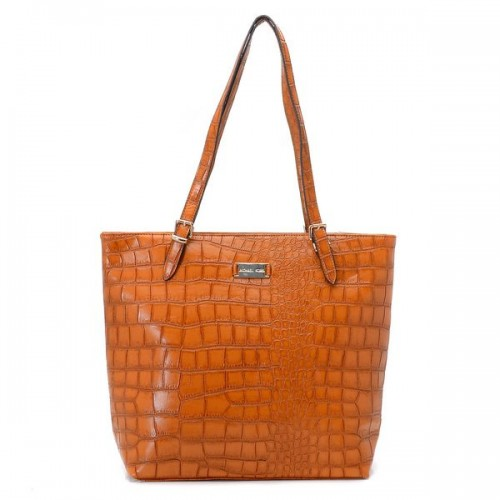 Michael Kors Gia Large Slouchy Tote Barley Crocodile-embossed Leather