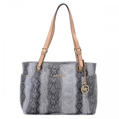 Michael Kors Jet Set Zip-top Tote Natural Python-stamped Leather