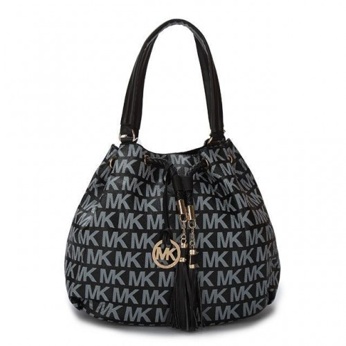 Michael Kors Logo Signature Large Black Totes