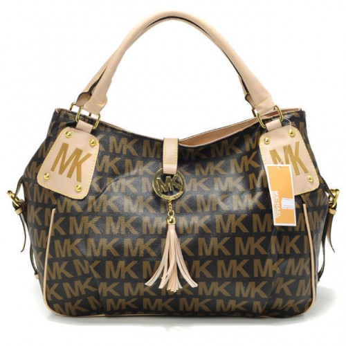 Michael Kors MK Signature Large Brown Totes
