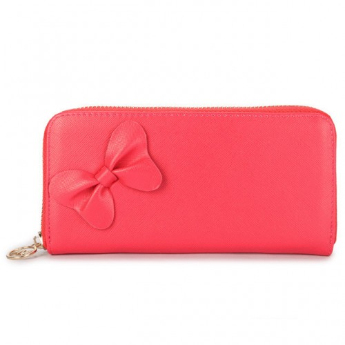 Michael Kors Bowknot Leather Large Pink Wallets