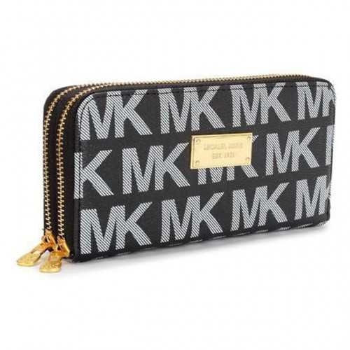 Michael Kors Continental Logo Large Black 006 Wallets