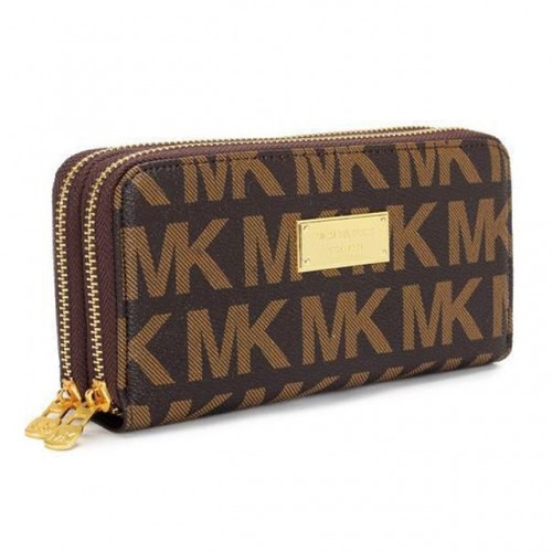 Michael Kors Continental Logo Large Brown 005 Wallets