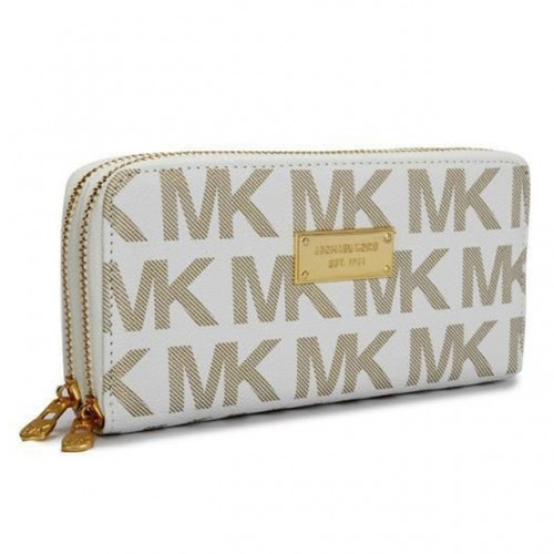 Michael Kors Continental Logo Large Ivory 005 Wallets