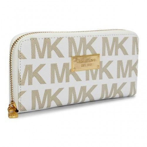 Michael Kors Continental Logo Large Ivory Wallets