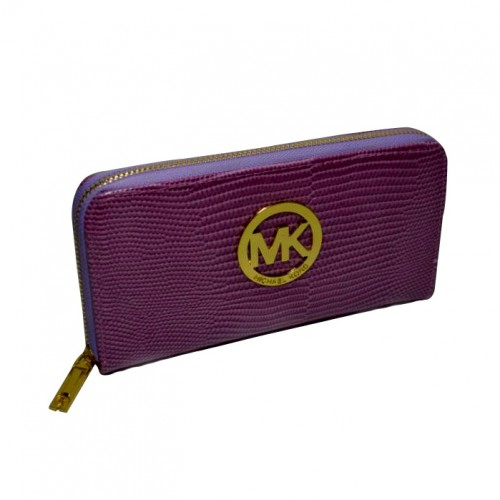 Michael Kors Embossed Logo Large Purple 005 Wallets