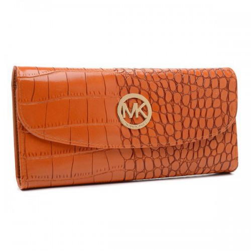 Michael Kors Embossed Logo Large Tan Wallets