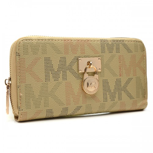 Michael Kors Hamilton Continental Large Beige Wallets