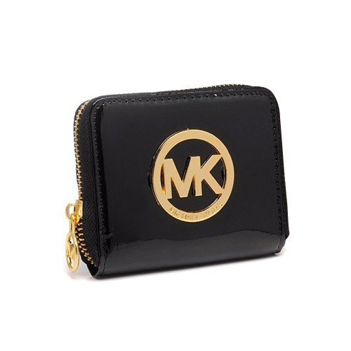 Michael Kors Jet Set Continental Large Black Wallets