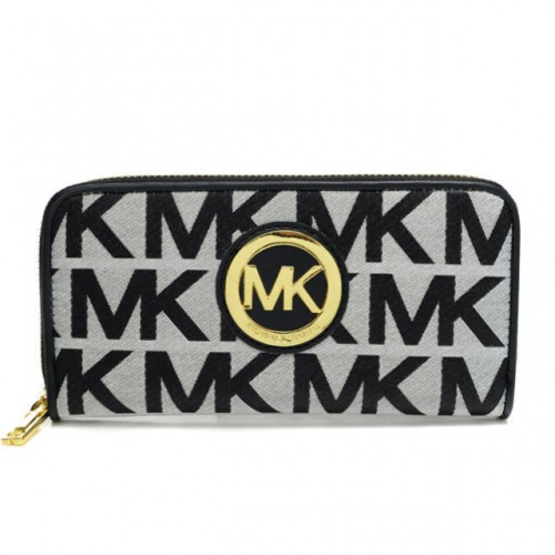 Michael Kors Jet Set Continental Logo Large Grey 007 Wallets
