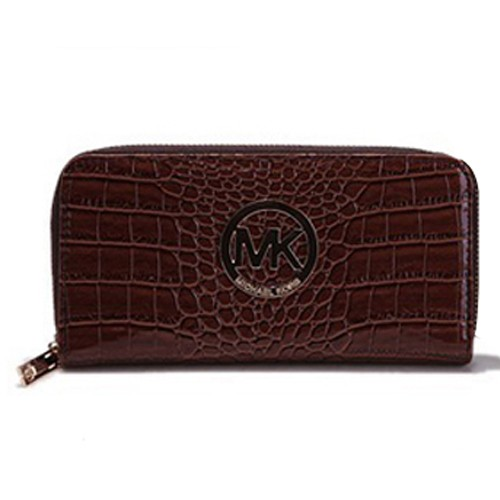 Michael Kors Jet Set Python Continental Large Coffee Wallets