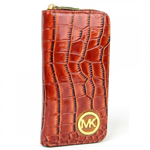 Michael Kors Jet Set Python Embossed Continental Large