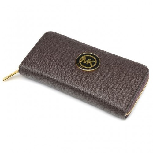 Michael Kors Jet Set Saffiano Continental Large Coffee Wallets