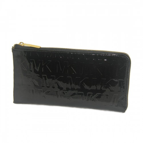 Michael Kors Jet Set Smooth Large Black Wallets
