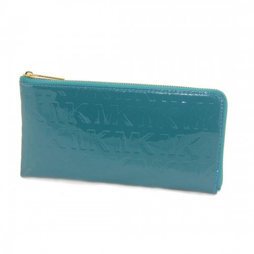 Michael Kors Jet Set Smooth Large Blue Wallets