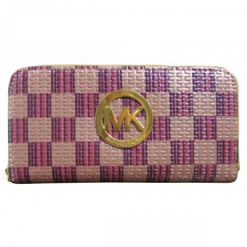 Michael Kors Knitted Logo Large Purple Wallets