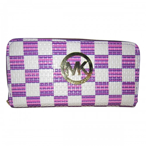 Michael Kors Knitted Logo Large Purple White Wallets