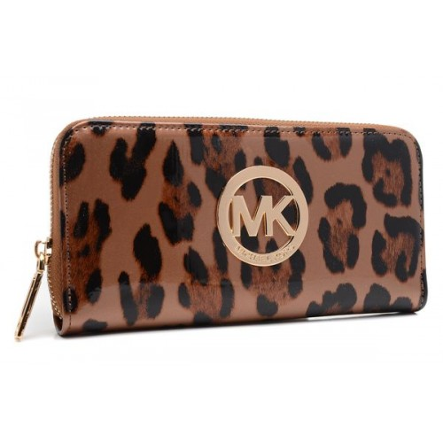 Michael Kors Wallet Leopard Brown