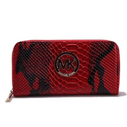 ichael Kors Crocodile Embossed Leather Large Red 005 Wallets